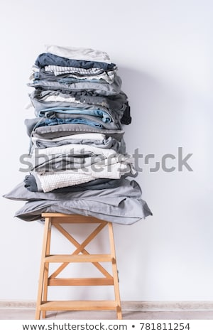 iron and pile of clothes Stock photo © marylooo