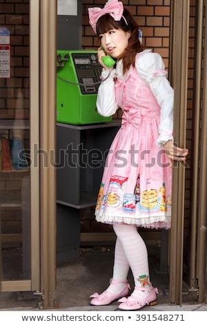 Japonês público telefone cosplay menina Foto stock © smithore