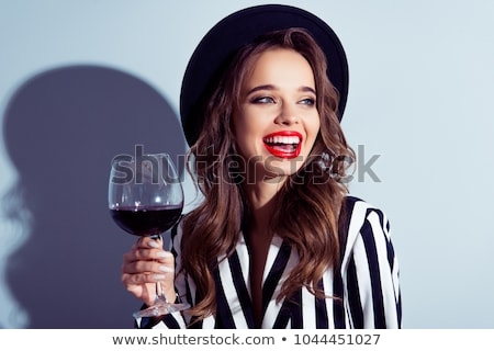 Lady вино стекла пить участник фон Сток-фото © vectomart