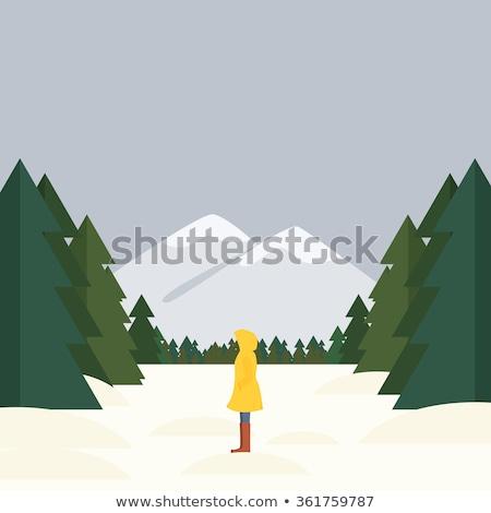 少女 立って 森林 長髪 草 春 ストックフォト © Aliftin