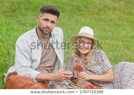 two couples enjoying picnic stock photo © photography33