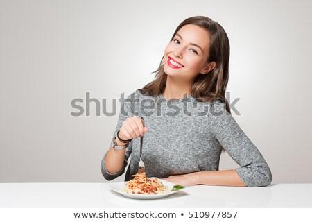 спагетти · томатный · довольно · молодые - Сток-фото © rob_stark