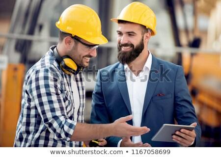 Stok fotoğraf: Iki · mavi · mimari · düşünmek · profesyonel · erkek