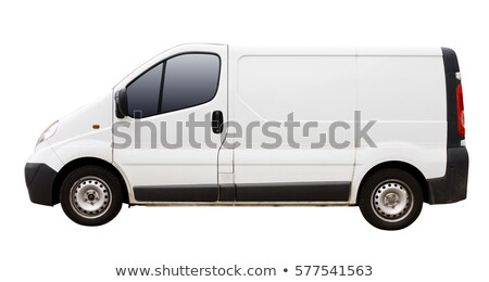 Delivery van isolated on white stock photo © lkeskinen