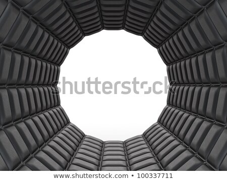 Black Leather Pattern Arch Shape With Rectangles Stok fotoğraf © Arsgera