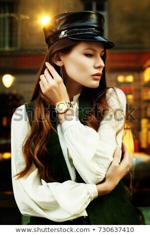 Noir élégant gilet isolé blanche design Photo stock © RuslanOmega