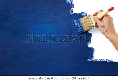 Geniş yeni fırça boya stüdyo fotoğrafçılık temizlemek Stok fotoğraf © prill