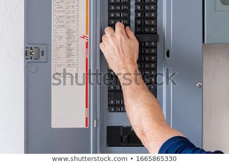 circuit · premier · plan · électrique · construction · orange · réseau - photo stock © pedrosala