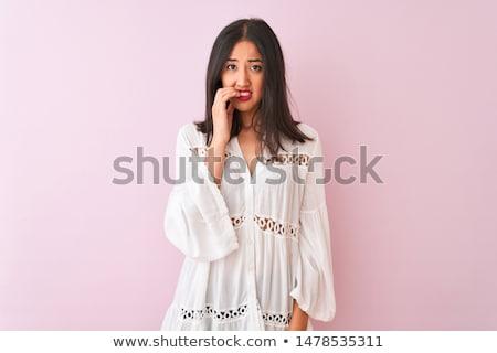 портрет молодые робкий женщину лице Сток-фото © photography33