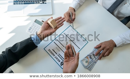 building couple with a house made out of banknotes stock photo © photography33