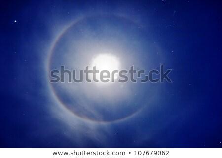 Halo em torno de lua foto noite céu Foto stock © pzaxe