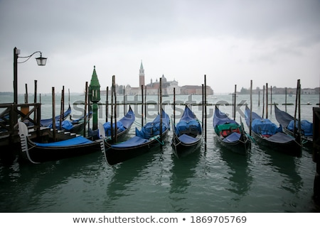 Gondolas on a Cloudy Day Stock photo © tepic