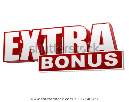 extra bonus red white banner - letters and block Stock photo © marinini