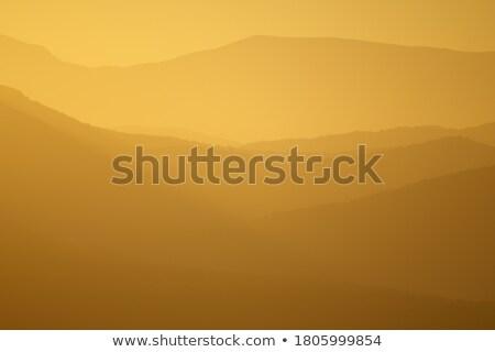 Foto stock: Dourado · luz · montanhas · céu · natureza · árvores