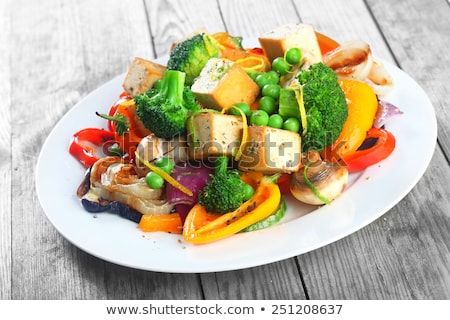 grilled tofu and vegetables stock photo © m-studio
