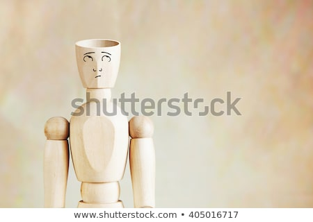 Lege hoofd achteraanzicht man pak Stockfoto © hyrons