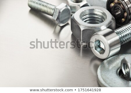 Hardware threaded nuts Stock photo © Arezzoni
