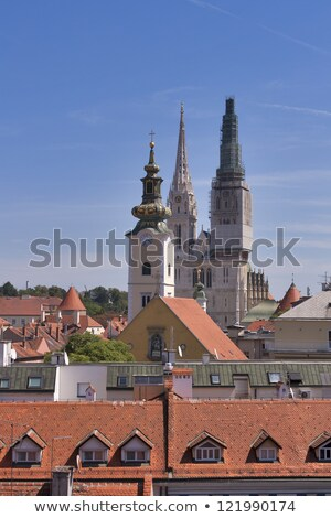 Spire with scaffolding of the St. Stephen Stock photo © Bertl123