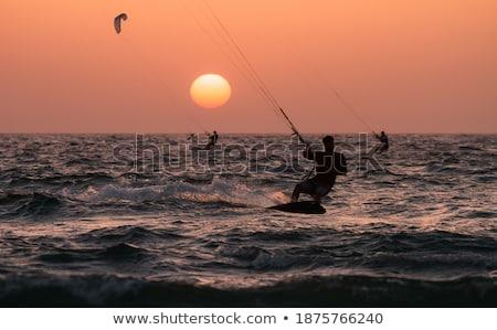 Сток-фото: Средиземное · море · морем · закат · Израиль · волнистый