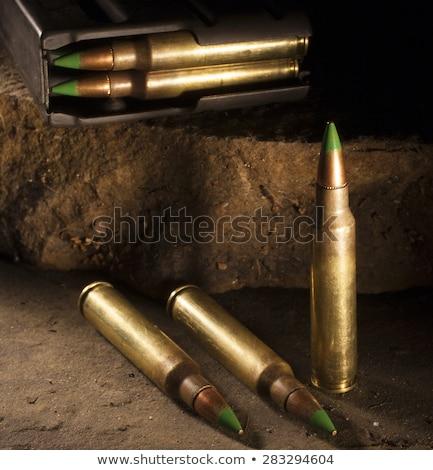 karabin · biały · odizolowany · pistolet · głowie - zdjęcia stock © eldadcarin