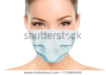 Hermosa ojo mujer médicos belleza jóvenes Foto stock © Kesu