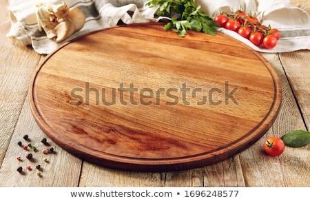 Frescos perejil mesa de madera alimentos hoja planta Foto stock © Kesu