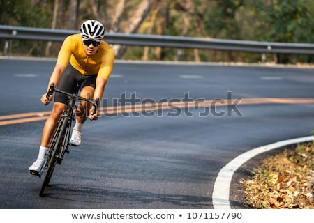 Bisiklete binme adam genç manzara spor yaz Stok fotoğraf © val_th