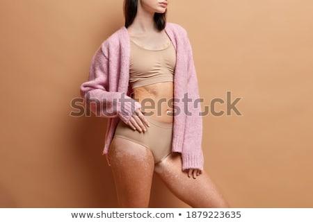 hátsó · nézet · nő · visel · bugyik · szexi · nő · fehér - stock fotó © wavebreak_media