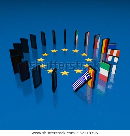 dominó · hatás · pénzügyi · válság · Európa · európai · szövetség - stock fotó © silense