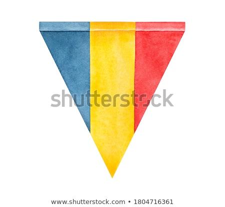 Bayrak Romanya el renk ülke stil Stok fotoğraf © claudiodivizia