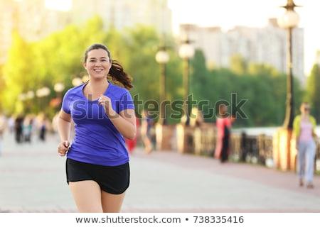 exercising overweight woman Stock photo © Mikko