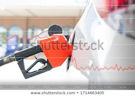 бензина сопло станция заполнение газ цистерна Сток-фото © cmcderm1
