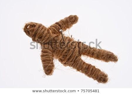 rope voodoo doll on white Stock photo © Kheat