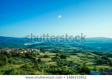 Toskana görüntü kasaba İtalya gökyüzü şarap Stok fotoğraf © w20er