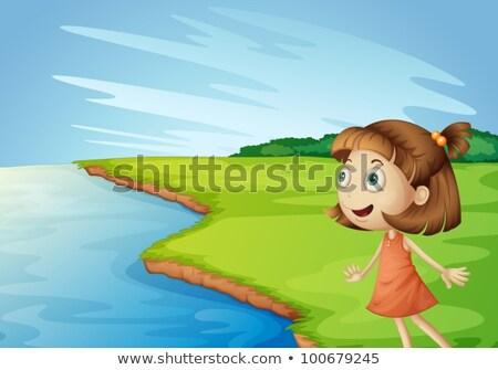 Girl staring  at the ocean Stock photo © javiercorrea15