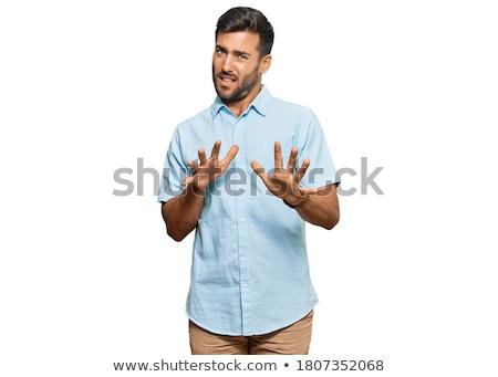 portré · spanyol · férfi · megrémült · arckifejezés · üzlet - stock fotó © ichiosea