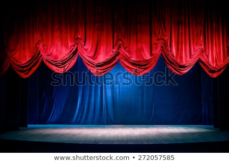 Theatre stage curtain Stock photo © burakowski