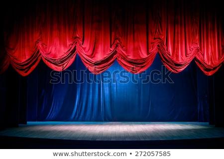 abierto · teatro · cortinas · 3d · rojo - foto stock © burakowski
