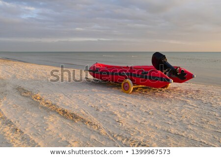 Rescue boat on the beach Stock photo © sognolucido