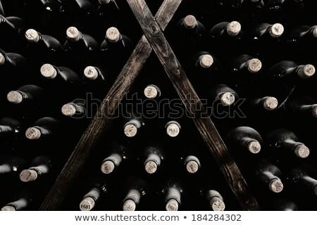 wine bottles stacked up Stock photo © kubais