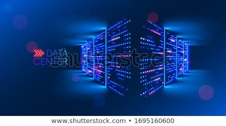Rangée réseau serveurs nuage image Photo stock © fenton