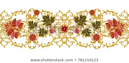 Lace fabric seamless border with abstract ornament Stock photo © LittleCuckoo