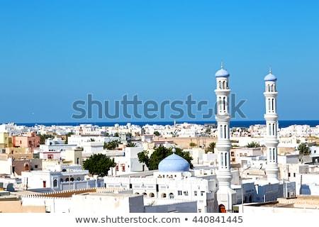 Minaret Oman foto typisch achtergrond woestijn Stockfoto © w20er