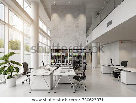 moderno · prédio · comercial · pormenor · transparente · vidro · parede - foto stock © nejron