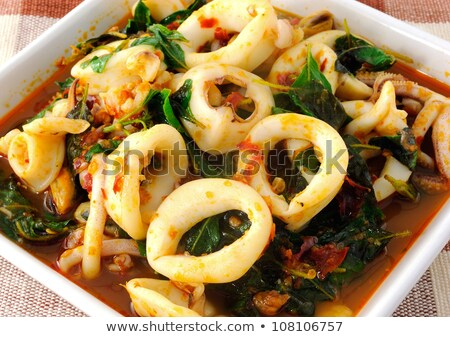Thai food spicy squid curry Stock photo © Witthaya