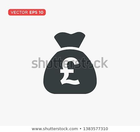 Bolsa libra completo dinero signo Foto stock © idesign