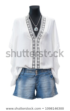 mannequins wearing jeans in a clothing store stock photo © bmonteny
