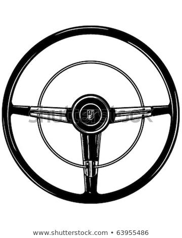 steering wheel of a vintage car stock photo © bmonteny
