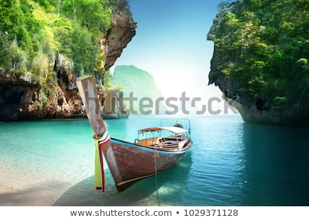 Largo cola barco krabi Tailandia sol Foto stock © sundaemorning