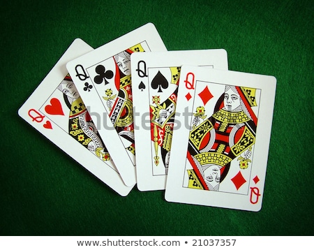 ストックフォト: チップ · 4 · 黒 · 白 · ギャンブル · チップ